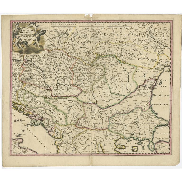 Le Royaume de Hongrie - Valck (1710)