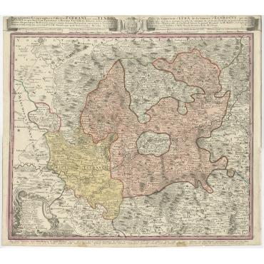 Carte du Territoire d'Egra (..) - Homann (1742)