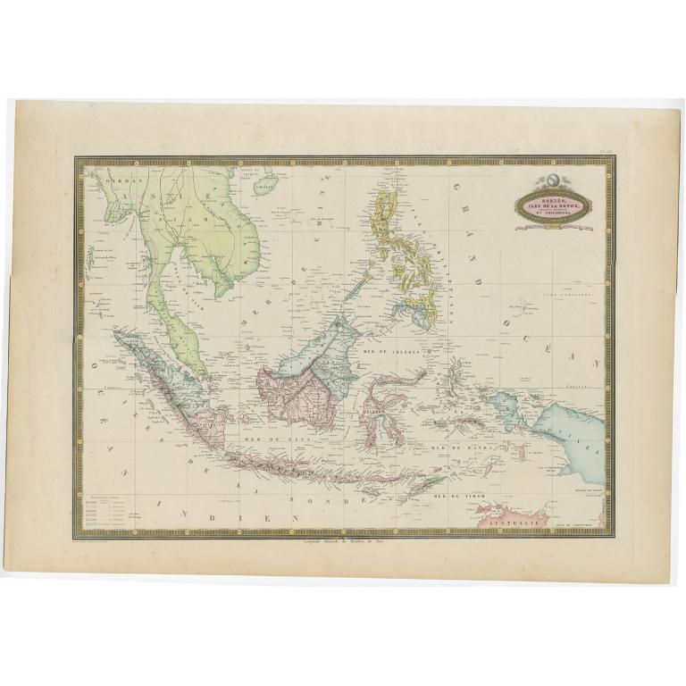 Borneo, Iles de la Sonde, Celebes, Moluques et Phillippines - Garnier (1860)