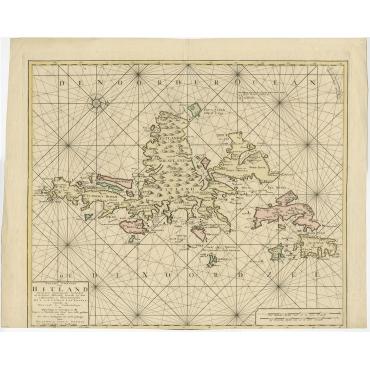 Nieuwe paskaard van Hitland (..) - Ottens (c.1745)