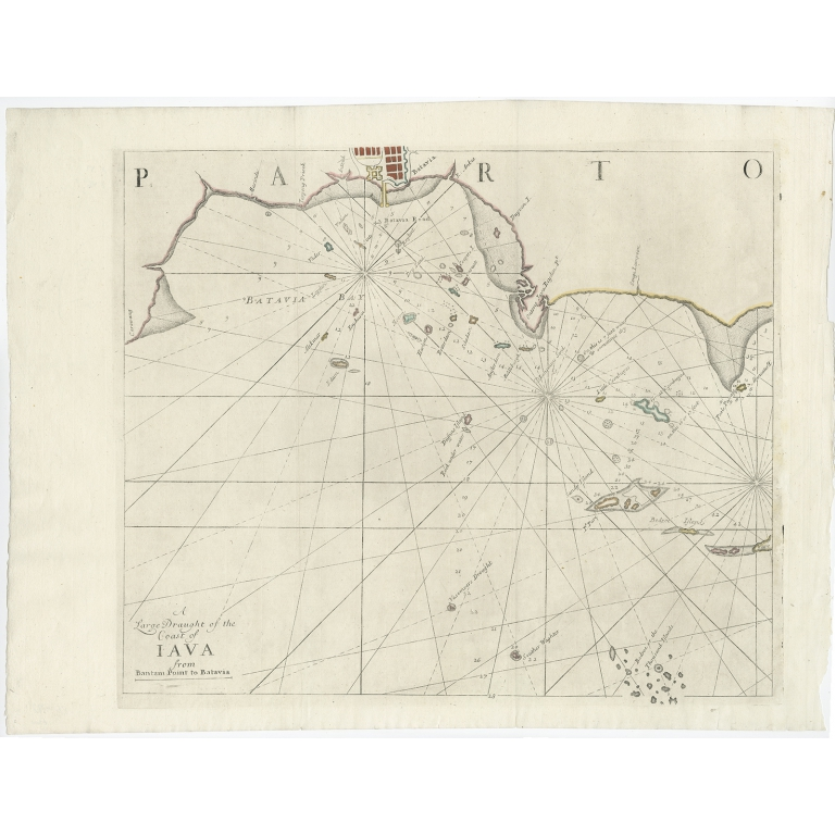 A large draught of the Coast of Iava - Mount & Page (1734)