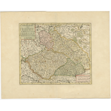 Nieuwe Kaart van t Konkinkryk Bohemen (..) - Tirion (1730)