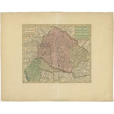 Nieuwe Kaart van t Koninkryk Hongaryen en Zevenbergen (..) - Tirion (1730)