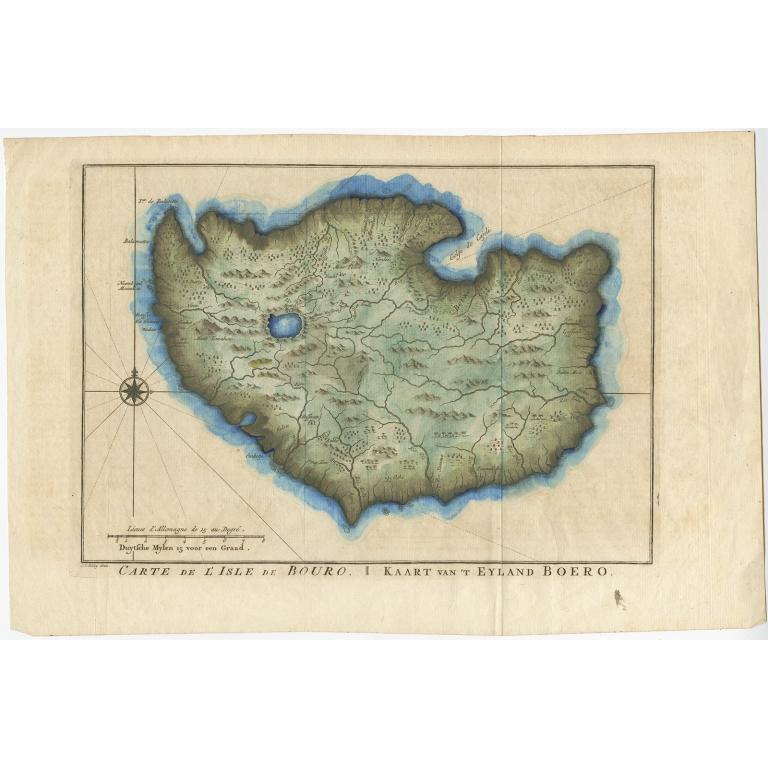 Kaart van 't Eyland Boero - Van Schley (1758)
