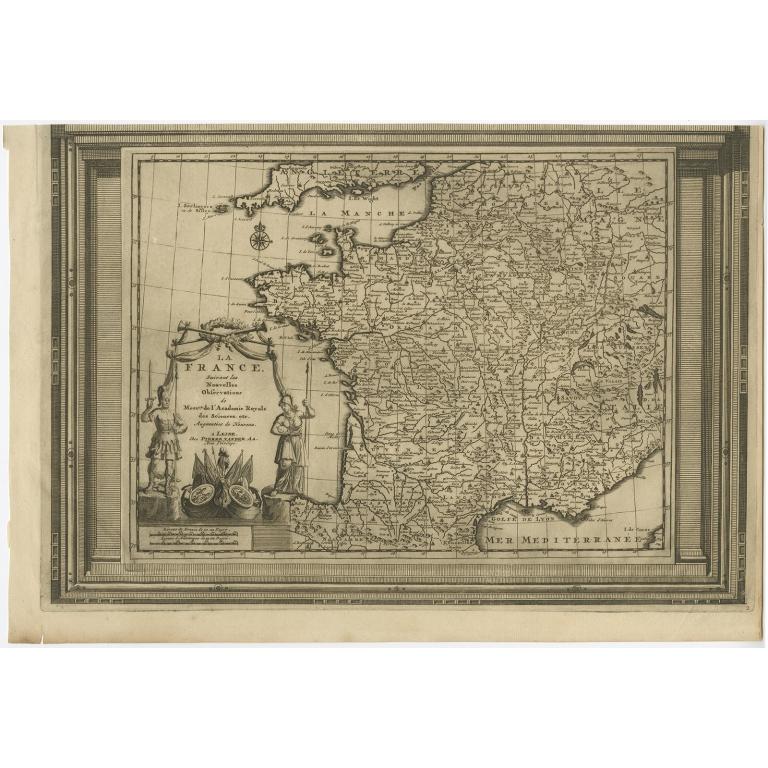 La France suivant les nouvelles observations (..) - Van der Aa (c.1740)