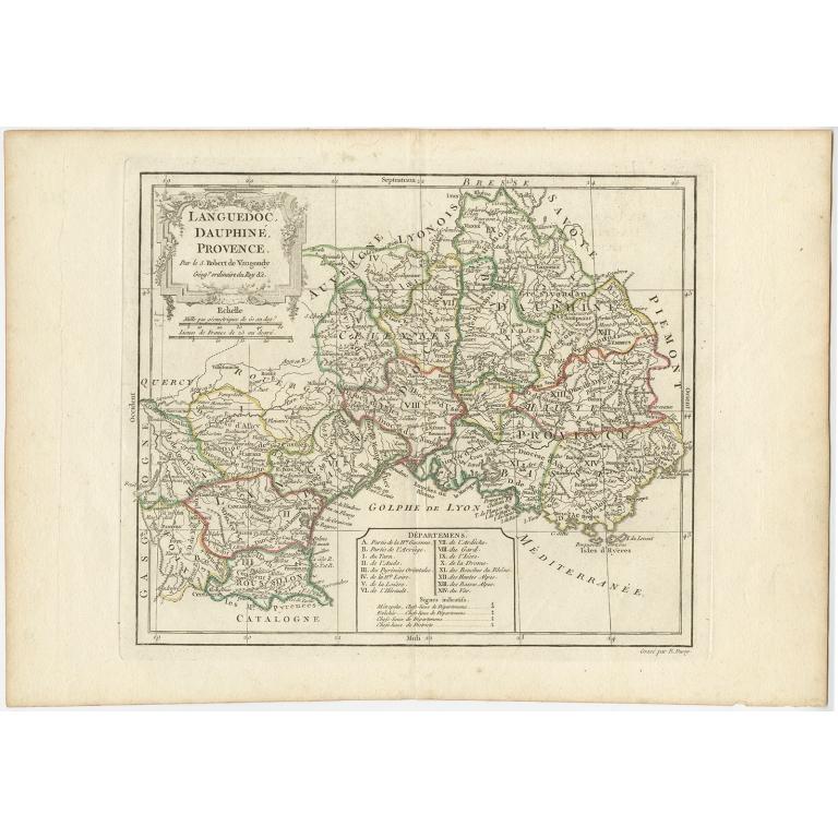 Languedoc, Dauphiné, Provence - Vaugondy (c.1790)