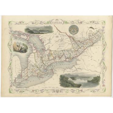 West Canada - Tallis (c.1851)