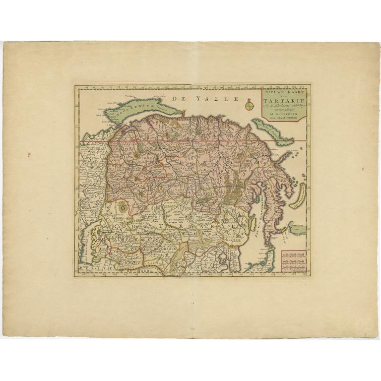 Nieuwe Kaart van Tartarie (..) - Tirion (c.1732)