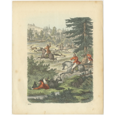 Untitled Print Deer Hunt - Hoffmann (1859)