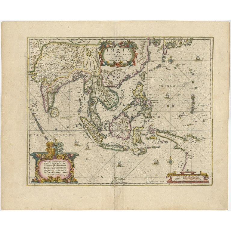 India quae Orientalis dicitur, et Insulae adiacentes - Janssonius (c.1644)