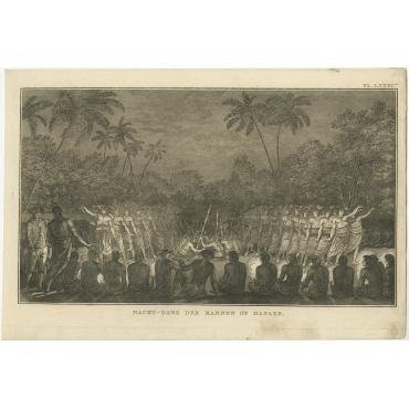 Nacht-Dans der Mannen op Hapaee - Cook (c.1801)