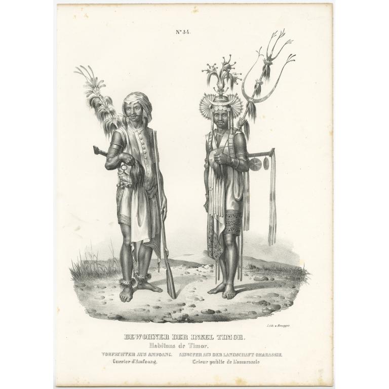 Bewohner der Insel Timor - Honegger (1836)