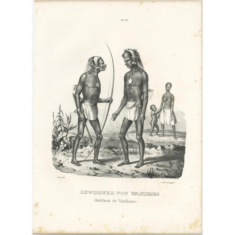 Bewohner von Vanikoro - Honegger (1836)
