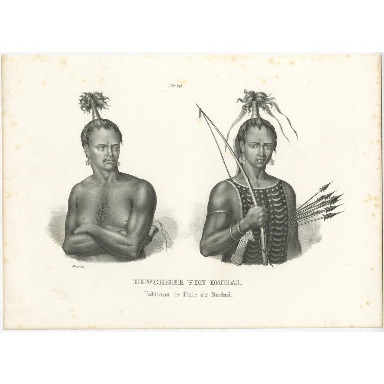 Bewohner von Ombai - Honegger (1836)