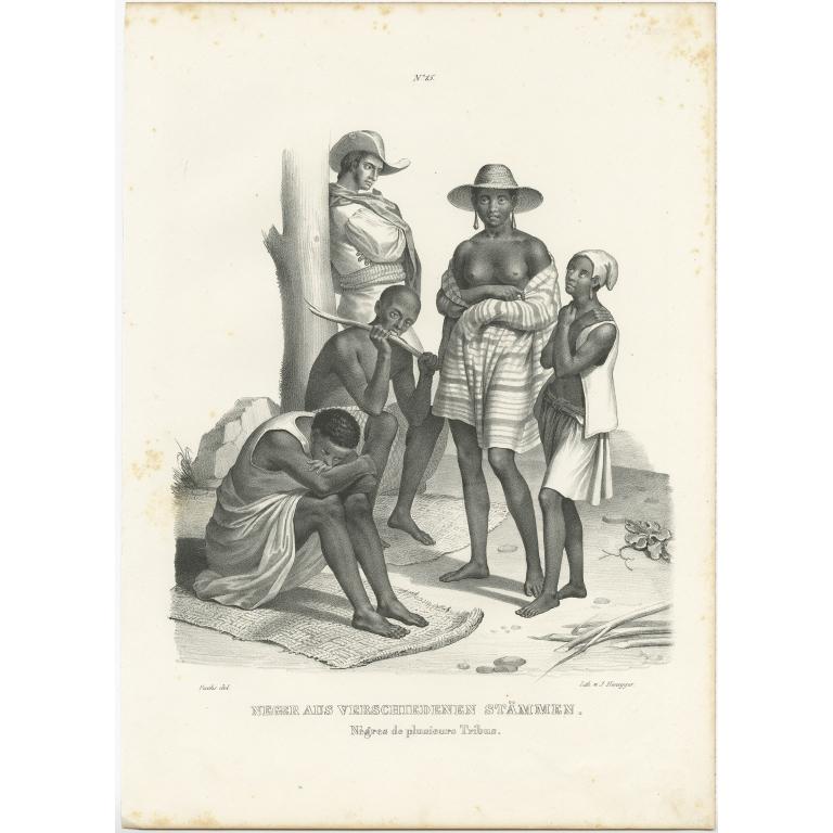 Neger aus verschiedenen Stämmen - Honegger (1836)