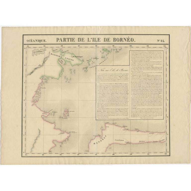 No. 14 Partie de l'Ile de Bornéo - Vandermaelen (c.1825)