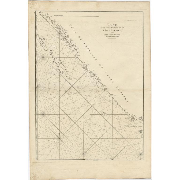 Carte de la Côte Occidentale de l'Isle Sumatra - De la Haye (c.1780)