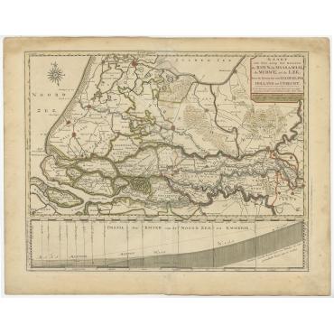 Kaart van den Loop der Rivieren (..) - Tirion (c.1750)