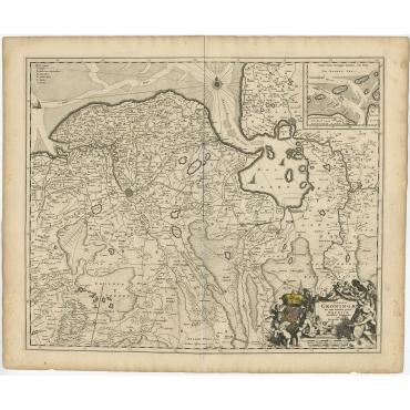 Dominii Groningae nec non maximae partis Drentiae (..) - Visscher (c.1660)