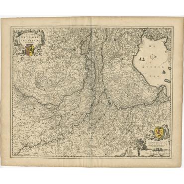 Ducatus Geldria et Zutphania Comitatus - Visscher (c.1670)