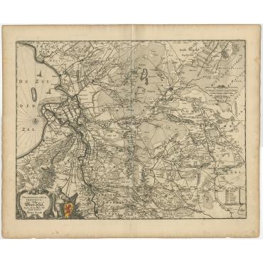 Transisalania Provincia vulgo Over-IJssel - Visscher (c.1680)
