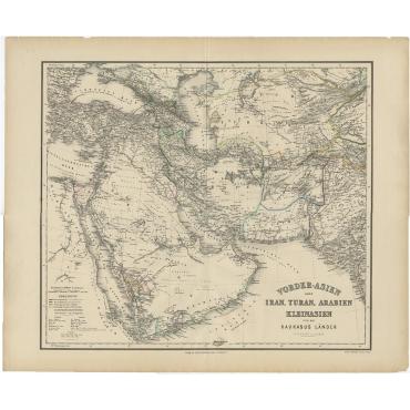 Vorder-Asien oder Iran, Turan, Arabien, Kleinasien (..) - Gräf (1866)
