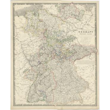 Germany, Western States - Johnston (c.1850)