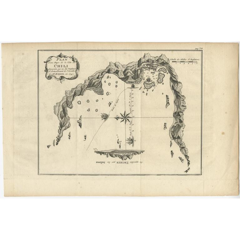 Plan d'une Baye de la Côte de Chili (..) - Anonymous (c.1750)