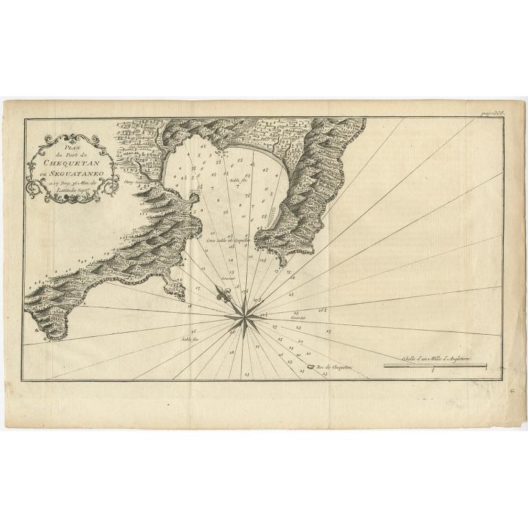 Plan du Port de Chequetan ou Seguataneo - Anonymous (c.1750)