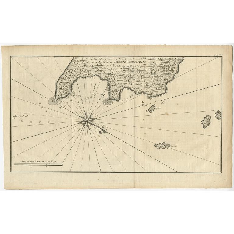 Plan de la partie orientale de l'Isle de Quibo - Anonymous (c.1750)