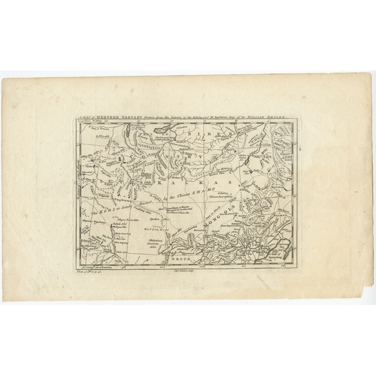 A Map of Western Tartary (..) - Kitchin (c.1750)