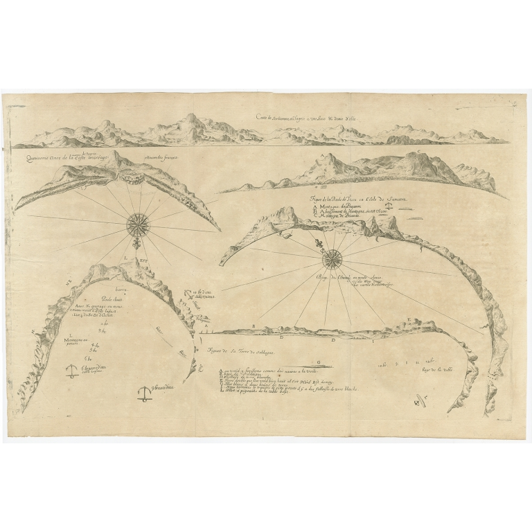 Untitled Chart of Table Bay and the Bay of Saldagne -Thevenot (c.1660)