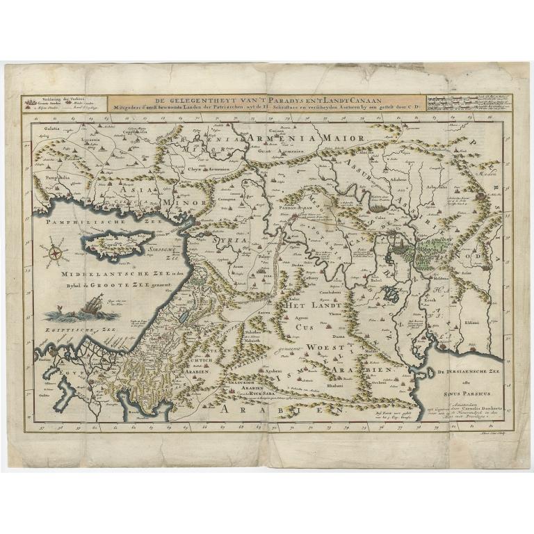 De Gelegentheyt van 't Paradys en 't Landt Canaan - Danckerts (c.1718)