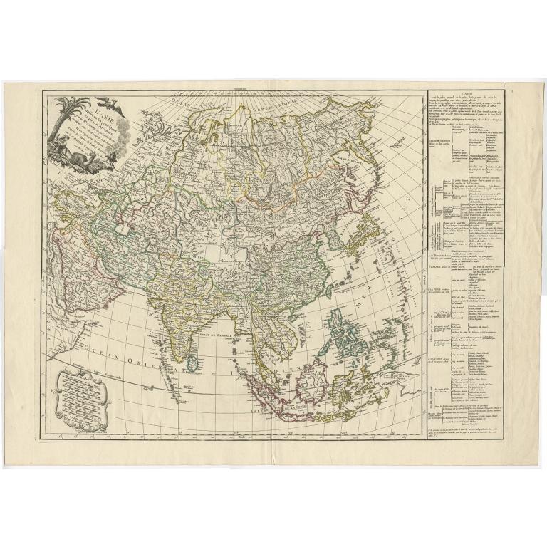 L'Asie divisée en ses principaux Empires (..) - Vaugondy (1749)