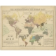 Ethnographical Map of the World - Reynolds (1851)