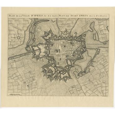 Plan de la Ville d'Ipres - Beaulieu (1729)