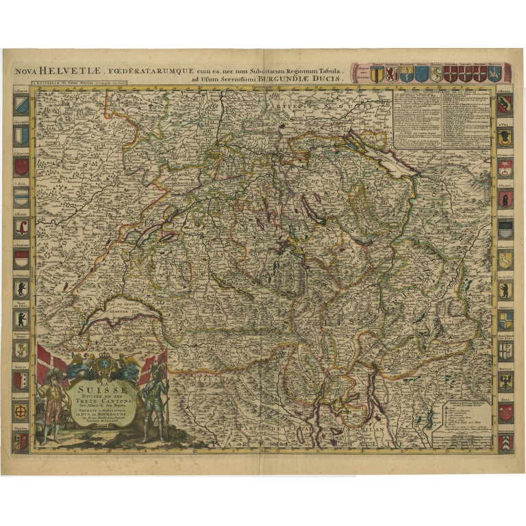 La Suisse divisée en ses Treze Cantons - Jaillot (c.1705)