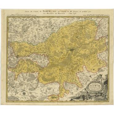 Comitatus Namur - Homann (1746)
