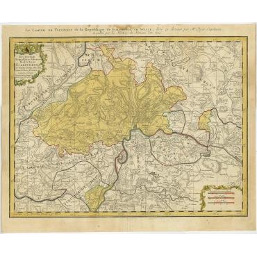 Territorium Reipublicae liberae Helveticae Scaphusiensis - Homann (1753)