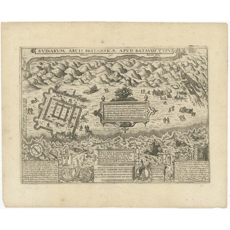 Ruinarum Arcis Brittanicae Apud Batavos Typus - Guicciardini (1612)