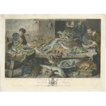 A Fish Market - Earlom (1782)
