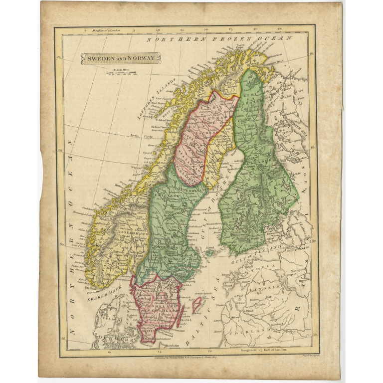 Sweden & Norway - Russell (1814)