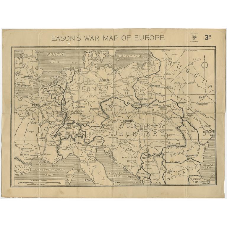 Eason's War Map of Europe