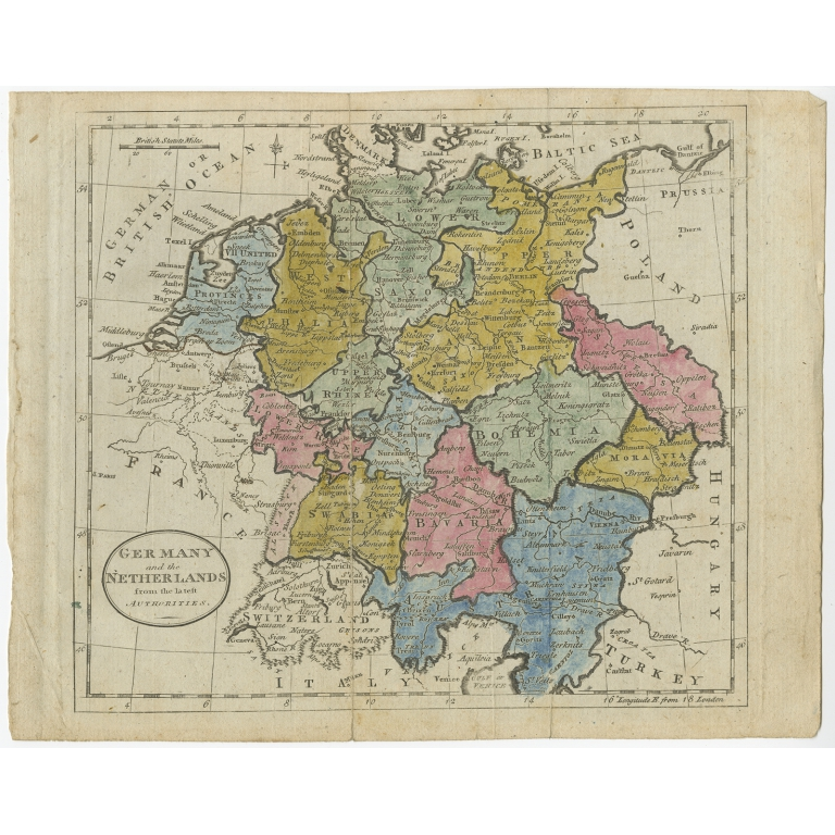 Germany and the Netherlands - Guthrie (c.1785)