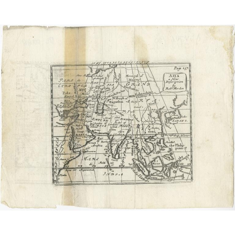 Asia, a New Description - Morden (c.1716)