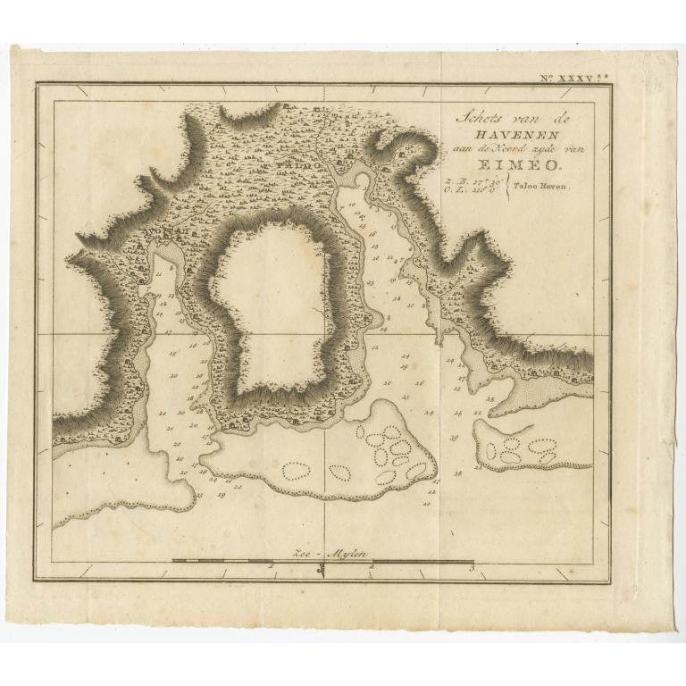 Schets van de Havenen (..) Eimeo - Cook (c.1795)