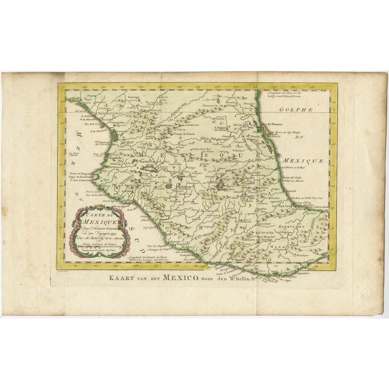 Kaart van het Mexico - Van Schley (c.1770)