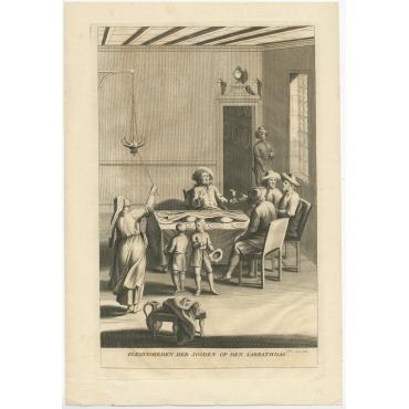 Plegtigheden der Jooden op den Sabbathdag - Calmet (1727)