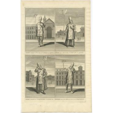 Femme condamnée par L'Inquisition (..) - Picart (1722)