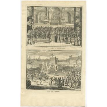 L'Auto-Da-Fé (..) - Picart (1722)